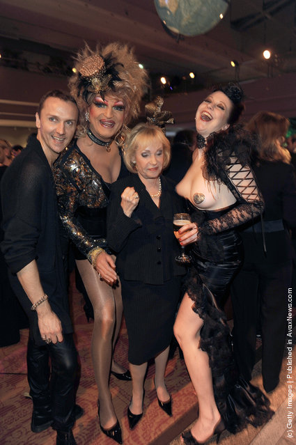Hubertus Regout, Olivia Jones, Dagmar Berghoff and Eve at the After Show Party of the charity event 'Event Prominent' at the Hotel Grand Elysee