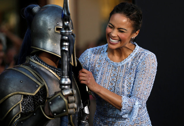"""Cast member Paula Patton poses at the premiere of the movie """"Warcraft"""" in Hollywood, California U.S., June 6, 2016. (Photo by Mario Anzuoni/Reuters)"""