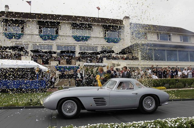 Jon Shirley wins the Best of Show at the Concours d'Elegance with his 1954 Ferrari 375 MM Scaglietti Coupe in Pebble Beach, California, August 17, 2014. (Photo by Michael Fiala/Reuters)
