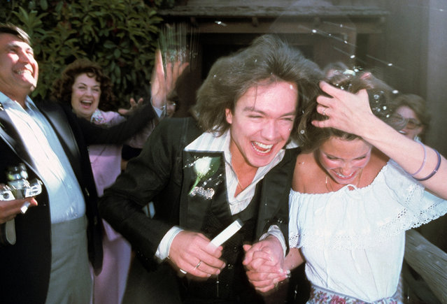 David Cassidy and Kay Lenz at their wedding at The Little Church Of The West in Las Vegas, Nevada, 1977. (Photos by Brad Elterman/FilmMagic)