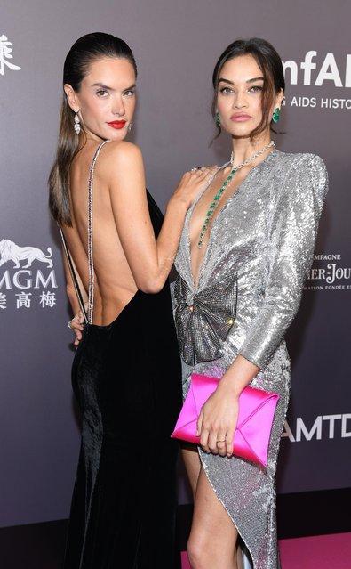 Alessandra Ambrosio, left, and Shanina Shaik attend the amfAR Hong Kong Gala 2018 at Shaw Studios on March 26, 2018 in Hong Kong, Hong Kong. (Photo by Clint Spaulding/Getty Images)