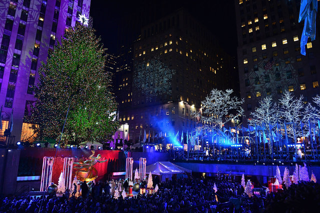 Atmosphere at the 82nd Annual Rockefeller Christmas Tree Lighting Ceremony at Rockefeller Center on December 3, 2014 in New York City. (Photo by James Devaney/WireImage)