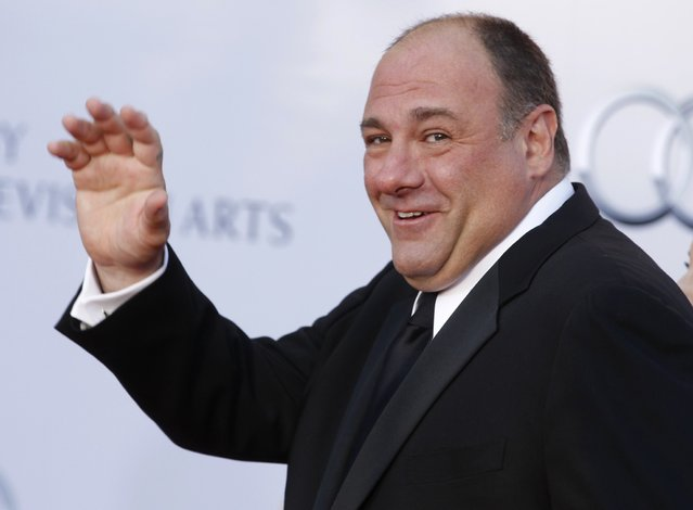 "Actor James Gandolfini arrives at the BAFTA Brits to Watch event in Los Angeles, California in this July 9, 2011 file photo. Actor James Gandolfini, best known for his Emmy-winning portrayal of a conflicted New Jersey mob boss in the acclaimed HBO cable television series ""The Sopranos"", has died while vacationing in Rome, the network said on June 19, 2013. (Photo by Fred Prouser/Reuters)"