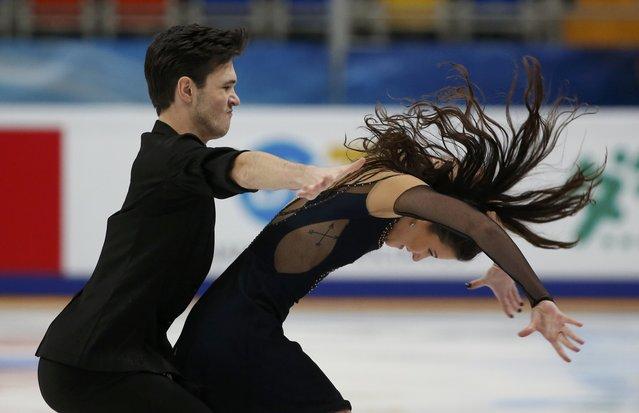 Figure Skating, ISU Grand Prix Rostelecom Cup 2016/2017, Ice Dance Free Dance, Moscow, Russia on November 4, 2016. Sofia Evdokimova and Egor Bazin of Russia compete.. (Photo by Grigory Dukor/Reuters)