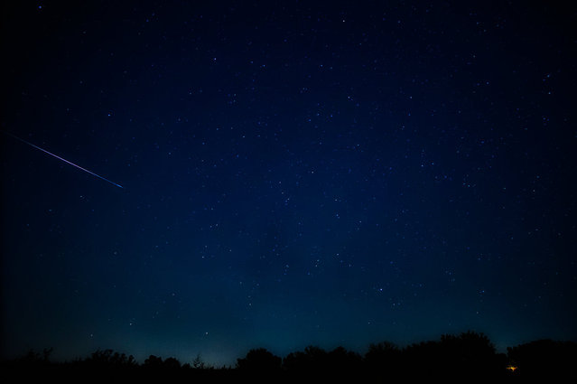 """Photographer Tom Childers took this photo south of Olathe, Kan., on August 13, 2012. He writes, """"We had a great, clear night, though pretty windy (as is normal for Kansas). (Photo by Tom Childers)"""