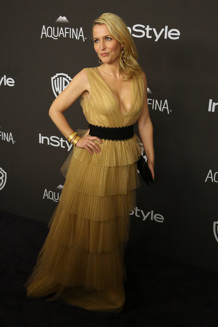 Actress Gillian Anderson attends the 17th Annual Instyle and Warner Bros. Pictures Golden Globes After Party in Beverly Hills, California January 10, 2016. (Photo by David McNew/Reuters)