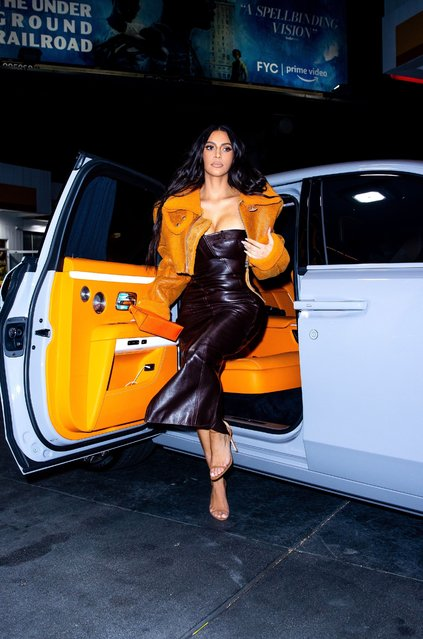 American media personality Kim Kardashian is seen in Los Angeles, California on June 25, 2021 – for the first time since Kanye's new fling with Irina Shayk was confirmed. She stepped out in Los Angeles wearing a vintage 2000 Christian Dior dress, YEEZY Season 3 shearling jacket, a matching Hermes Kelly mini handbag and Manolo Blahnik heels. (Photo by TheHapaBlonde/Rex Features/Shutterstock)