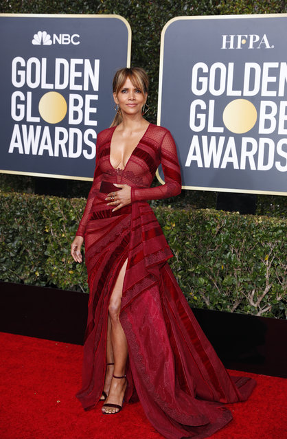 Halle Berry arrives at the 76th annual Golden Globe Awards at the Beverly Hilton Hotel on Sunday, January 6, 2019, in Beverly Hills, Calif. (Photo by Mike Blake/Reuters)