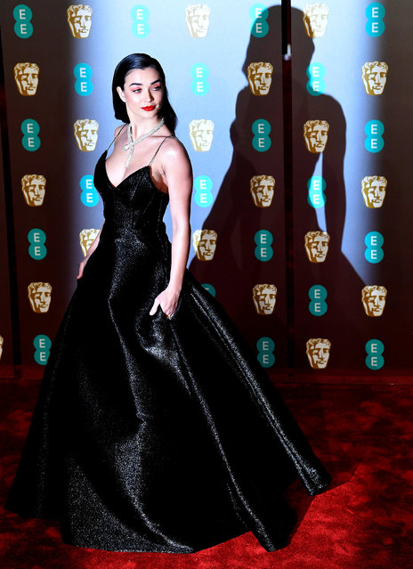 Amy Jackson arrives at the British Academy of Film and Television Awards (BAFTA) at the Royal Albert Hall in London, Britain, February 10, 2019. (Photo by Toby Melville/Reuters)