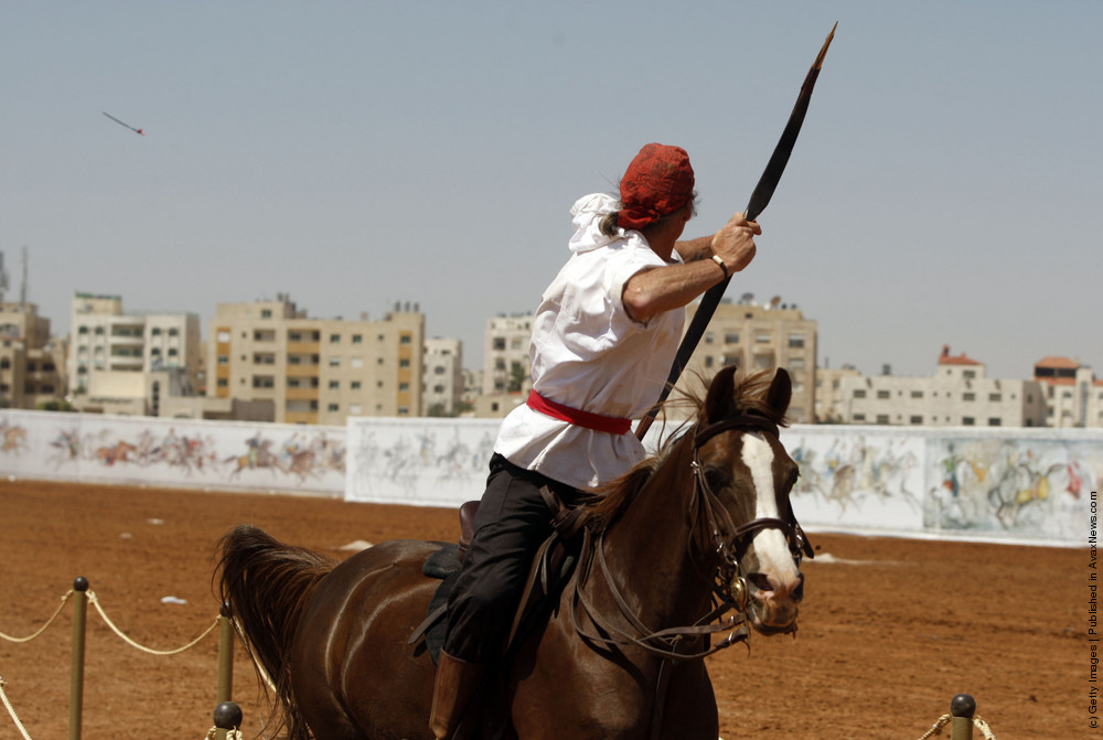 Traditional Horseback Archers Compete In Amman