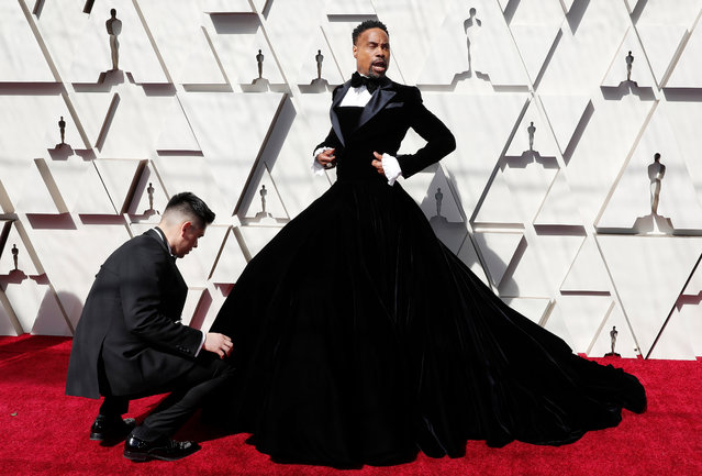 American stage performer Billy Porter arrives for the 91st annual Academy Awards ceremony at the Dolby Theatre in Hollywood, California, USA, 24 February 2019. The Oscars are presented for outstanding individual or collective efforts in 24 categories in filmmaking. (Photo by Etienne Laurent/EPA/EFE)