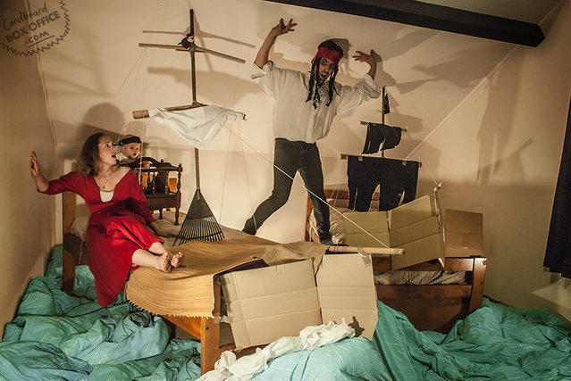 Cardboard Box Office By Lilly, Leon And Baby Orson