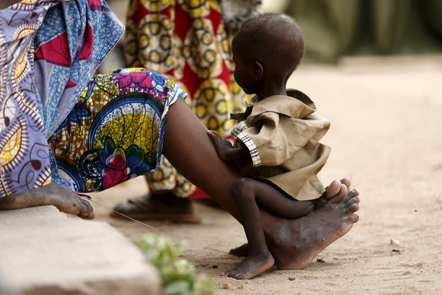 A child rescued from Boko Haram in Sambisa forest is seen at the Internally Displaced People's camp in Yola, Nigeria May 3, 2015. (Photo by Afolabi Sotunde/Reuters)