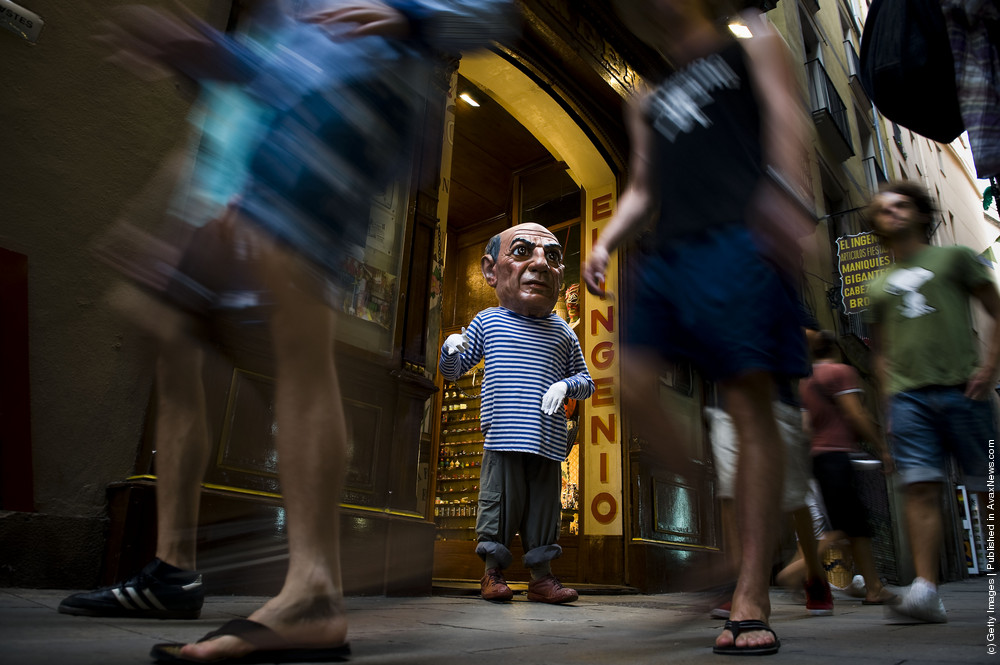 Barcelona Shop Specialises In The Production Of Catalan Festival Masks