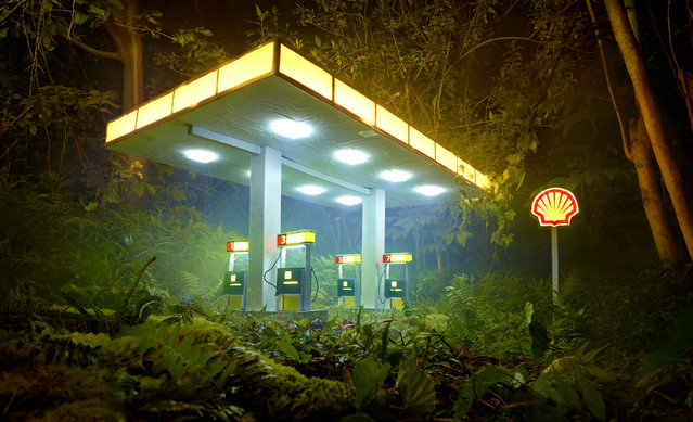 David LaChapelle, Gas Shell, 2013, chromogenic print, 71 x 118 inches, 180.3 x 299.7 cm, edition of 3. Image courtesy of the artist and Paul Kasmin Gallery. (Photo by David LaChapelle Studio)