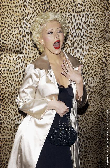 Winking Singer Christina Aguilera