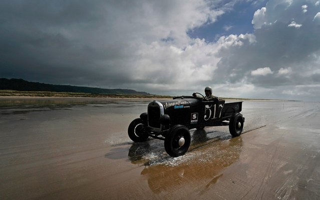 A Ford Model A make its return to the pit area during the Vintage Hot Rod Racing on Pendine Sands on June 16, 2019 in Carmarthen, Wales. (Photo by Alan Crowhurst/Getty Images)