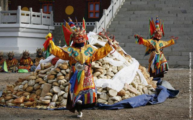 Lamas dance