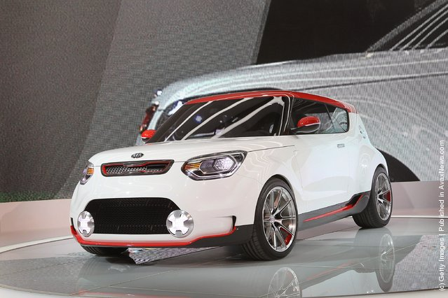 Kia introduces the Trackster concept vehicle during the media preview of the Chicago Auto Show at McCormick Place