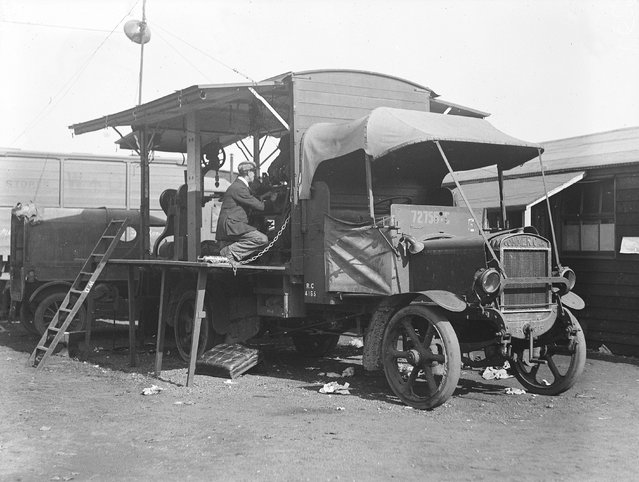 A mobile car repair shop during the railway strike. 3rd October 1919. (Photo by A. R. Coster)