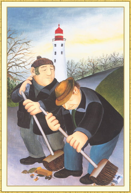 Park Keepers. Artwork by Beryl Cook