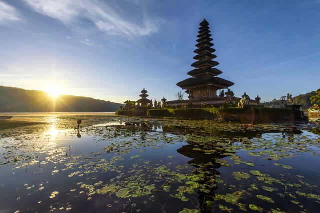 #9. Indonesia, Total GDP: USD 932.3 billion (2016). Contribution of Travel and Tourism to GDP: 6.2%. Here: Pura Ulun Danu Bratan, or Pura Bratan, is a major Shivaite and water temple on Bali, Indonesia. (Photo by Tonnaja.com/Getty Images)