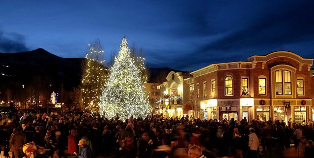 Hundreds of people watched the lighting of Breckenridge, Colorado's town tree. (Photo by Nathan Bilow /AP Images for The Breckenridge Resort Chamber)
