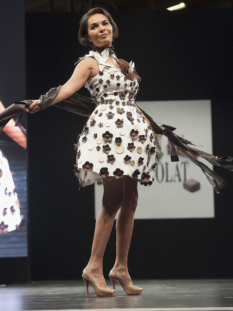 Saida Jawad walks the runway during the Chocolate fashion show as a part of the Salon Du Chocolat 2015 - Chocolate Fair at Parc des Expositions Porte de Versailles on October 27, 2015 in Paris, France. (Photo by Kay-Paris Fernandes/WireImage)