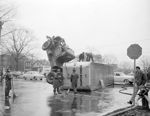 Accidents – car and truck, 1950-1955. (Photo by Leslie Jones)