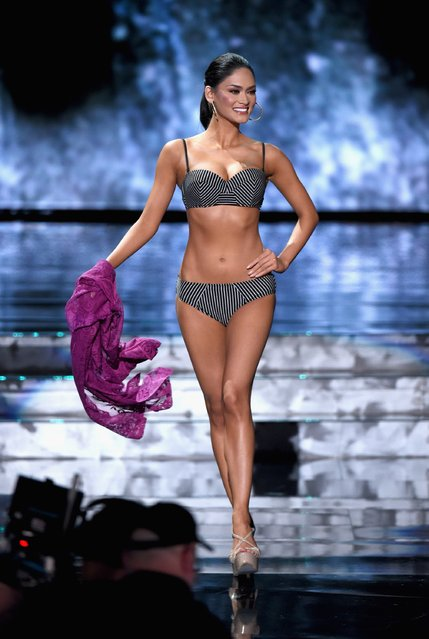 Miss Philippines 2015, Pia Alonzo Wurtzbach, competes in the swimsuit competition during the 2015 Miss Universe Pageant at The Axis at Planet Hollywood Resort & Casino on December 20, 2015 in Las Vegas, Nevada. (Photo by Ethan Miller/Getty Images)