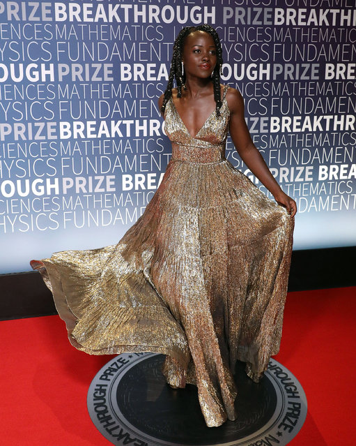 Lupita Nyong'o attends the 7th Annual Breakthrough Prize Ceremony at NASA Ames Research Center on November 4, 2018 in Mountain View, California. (Photo by Taylor Hill/Getty Images)