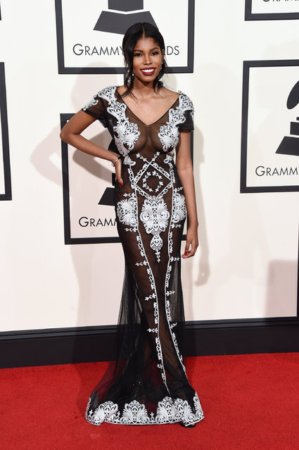 Singer Diamond White attends The 58th GRAMMY Awards at Staples Center on February 15, 2016 in Los Angeles, California. (Photo by Jason Merritt/Getty Images for NARAS)
