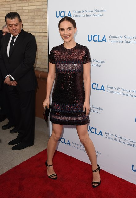 Actress Natalie Portman arrives at the UCLA Younes & Soraya Nazarian Center For Israel Studies 5th Annual Gala at Wallis Annenberg Center for the Performing Arts on May 5, 2015 in Beverly Hills, California. (Photo by Jason Merritt/Getty Images)