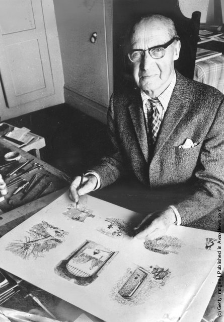 English artist Ernest Howard Shepard, who illustrated the Winnie the Pooh