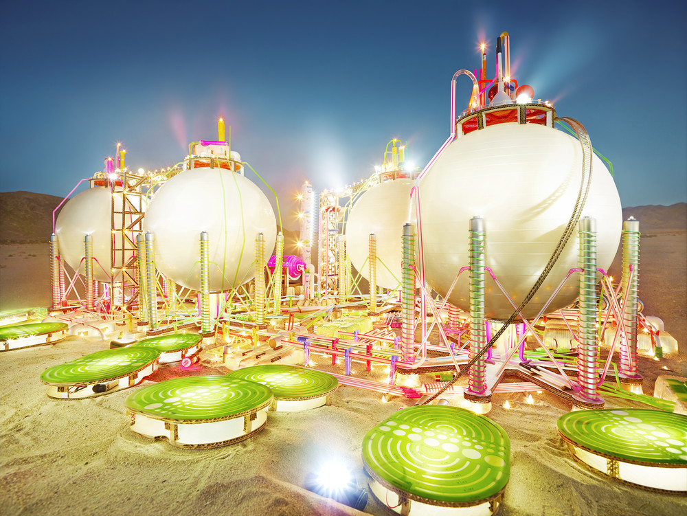 """David LaChapelle's """"Refineries"""" and """"Gas Stations"""" Photographs"""
