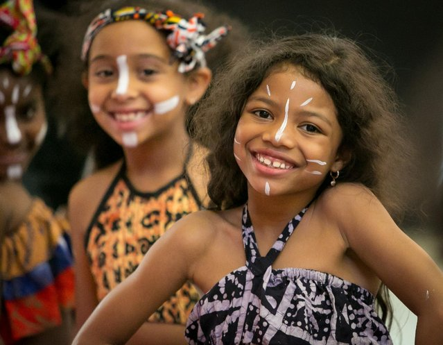The Bototo Yetu dance company performs at City College Center for the Arts 2015 CCCA Awards at Aaron Davis Hall on Monday, May 4, 2015, in New York. (Photo by Matt Peyton/Invision for City College Center For the Arts/AP Images)