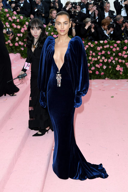 Irina Shayk attends The 2019 Met Gala Celebrating Camp: Notes On Fashion at The Metropolitan Museum of Art on May 06, 2019 in New York City. (Photo by Karwai Tang/WireImage )