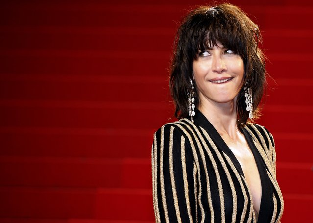 """Jury member actress Sophie Marceau poses on the red carpet as she arrives for the screening of the film """"The Assassin"""" (Nie yin niang) in competition at the 68th Cannes Film Festival in Cannes, southern France, May 21, 2015. (Photo by Eric Gaillard/Reuters)"""