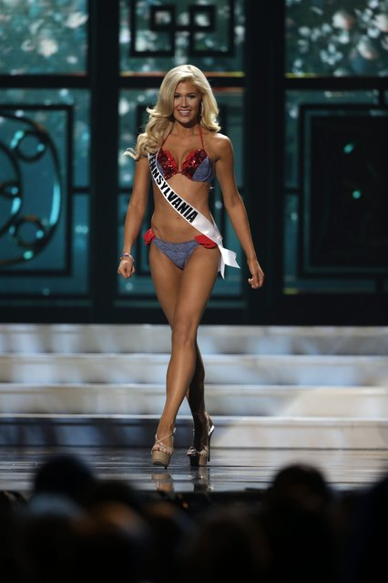 Miss Pennsylvania, Elizabeth Cardillo, competes in the bathing suit competition during the preliminary round of the 2015 Miss USA Pageant in Baton Rouge, La., Wednesday, July 8, 2015. (Photo by Gerald Herbert/AP Photo)