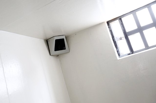 """A view of the security camera in drug lord Joaquin """"El Chapo"""" Guzman's cell inside the Altiplano Federal Penitentiary, where he escaped from, in Almoloya de Juarez, on the outskirts of Mexico City, July 15, 2015. (Photo by Edgard Garrido/Reuters)"""