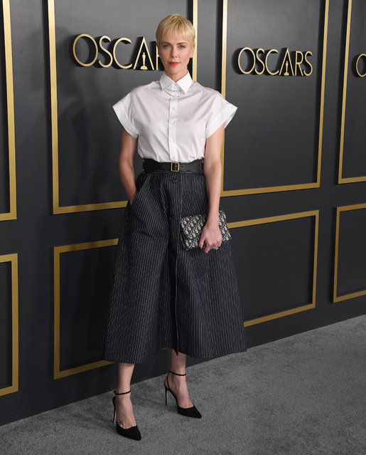 Charlize Theron arrives at the 92nd Oscars Nominees Luncheon on January 27, 2020 in Hollywood, California. (Photo by Steve Granitz/WireImage)