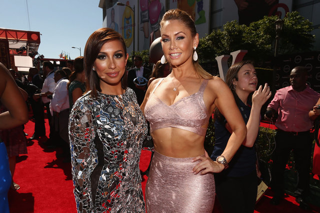 Dancers Cheryl Burke (L) and Kym Johnson attend The 2014 ESPYS at Nokia Theatre L.A. Live on July 16, 2014 in Los Angeles, California. (Photo by Christopher Polk/Getty Images For ESPYS)