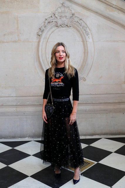 Actor Annabelle Wallis poses during a photocall before the Spring/Summer 2018 women's ready-to-wear collection show for fashion house Dior during Paris Fashion Week, France, September 26, 2017. (Photo by Philippe Wojazer/Reuters)