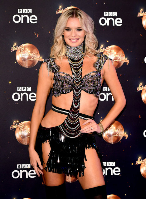 Ukrainian-Slovenian ballroom and Latin American dancer Nadiya Bychkova at the launch of Strictly Come Dancing 2018 held at The Broadcasting House, London on August 27, 2018. (Photo by Ian West/PA Images via Getty Images)