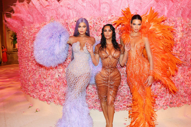 Kylie Jenner, Kim Kardashian West and Kendall Jenner attend The 2019 Met Gala Celebrating Camp: Notes on Fashion at Metropolitan Museum of Art on May 06, 2019 in New York City. (Photo by Kevin Tachman/MG19/Getty Images for The Met Museum/Vogue)