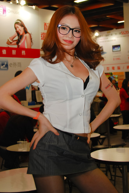 Asian Beauty: Hot Promotional Models in Taipei, Taiwan. Taipei IT Month 2011