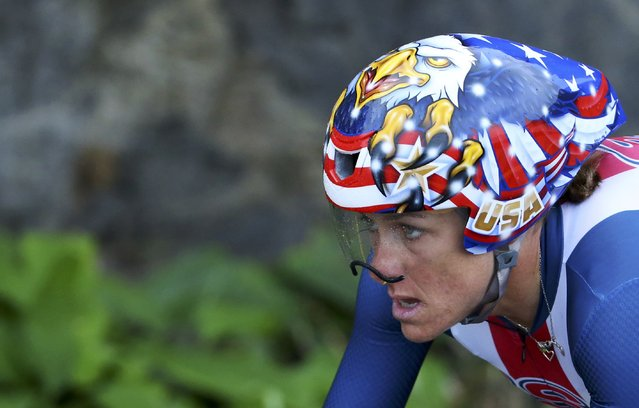 2016 Rio Olympics, Cycling Road, Final, Women's Individual Time Trial, Pontal, Rio de Janeiro, Brazil on August 10, 2016. Kristin Armstrong (USA) of USA competes. (Photo by Paul Hanna/Reuters)