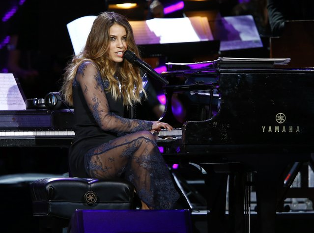 Singer Debi Nova performs during the 2014 Latin Recording Academy Person of the Year Tribute to Joan Manuel Serrat in Las Vegas, Nevada November 19, 2014. (Photo by Mike Blake/Reuters)