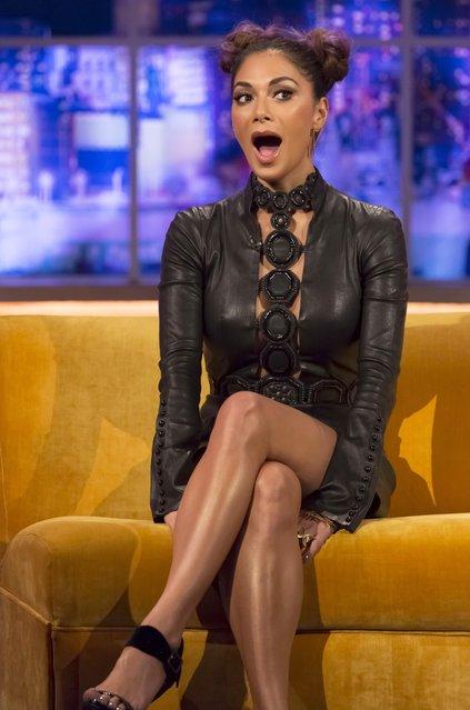 "Nicole Scherzinger at ""The Jonathan Ross Show"" TV Programme, London, Britain on October 27, 2016. (Photo by Hotsauce/Rex Features/Shutterstock)"