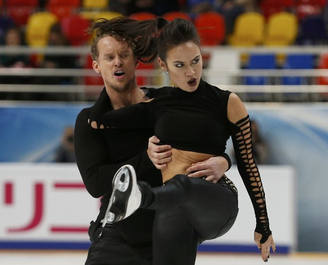 Figure Skating, ISU Grand Prix Rostelecom Cup 2016/2017, Ice Dance Short Dance, Moscow, Russia on November 4, 2016. Madison Chock and Evan Bates of the U.S. compete. (Photo by Grigory Dukor/Reuters)